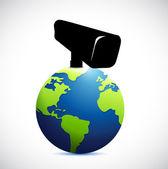 Globo bajo diseño de ilustración de vigilancia — Foto de Stock