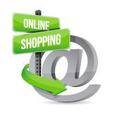 コンセプト イラスト デザインのオンライン ショッピング — ストック写真