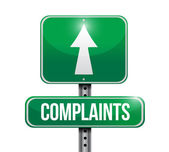 Complaints signpost illustration design — Stock Photo