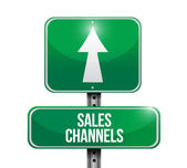 Sales channels road sign illustration design — Stock Photo