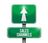 Sales channels road sign illustration design — Stock Photo
