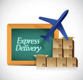 Express delivery shipping concept illustration — Stock Photo