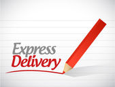 Express delivery written message illustration — Stock fotografie