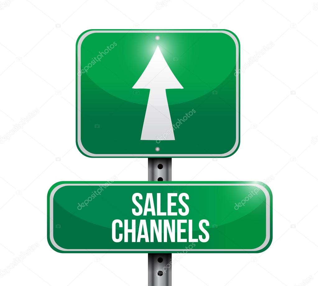 Sales channels road sign illustration design — Stock Photo ...