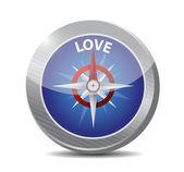 Compass love destination illustration design — Stock Photo