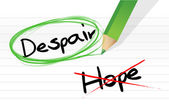 Despair over hope selection illustration — Stock Photo