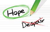 Hope over despair illustration design — Stock Photo
