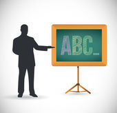 Teaching the abc illustration design — Stockfoto