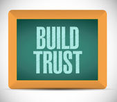 Build trust sign message illustration design — Stock Photo