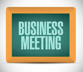 Business meeting sign on a board. illustration — Stock fotografie