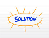 Solution destinations diagram illustration design — Stock Photo