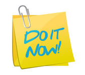 Do it now post illustration design — Stok fotoğraf