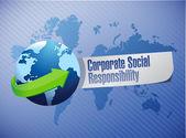 Signe de globe de responsabilité sociale des entreprises — Photo