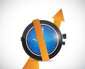 Es hora de beneficios en aumento. diseño de ilustración — Foto de Stock