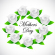Mothers day roses sign illustration design — Stock Photo #44314401