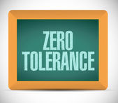 Zero tolerance message illustration design — Stock Photo