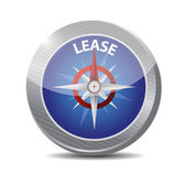 Compass guide to lease. illustration design — Stock fotografie