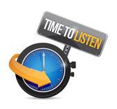 Время слушать смотреть иллюстрации дизайн — Стоковое фото