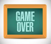 Game over sign message illustration design — Stock Photo