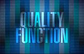 Quality function sign illustration design — Stock Photo