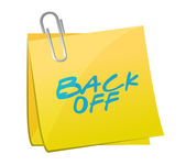 Back off sign post illustration design — Stock Photo
