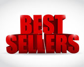 Best seller red sign illustration design — Stock Photo