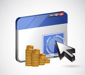 Pay per click profits concept illustration design — Stock Photo
