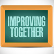 Improving together message on a blackboard. — Stock Photo #44457135