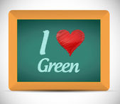 I love green message on a clipboard. illustration — Stock Photo