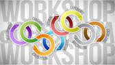 Workshop cycle diagram — Stock Photo