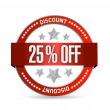 25 percent off seal illustration design — Stock Photo #44641779