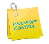 Inventory control post illustration design — Stock Photo