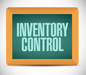 Inventory control message illustration design — Stock Photo
