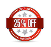 25 percent off seal illustration design — Stock Photo
