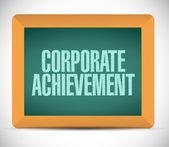 Corporate achievement illustration design — Stock Photo