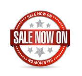 Sale now on seal illustration design — Stock Photo