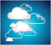 Clouds set illustration design — Stock Photo