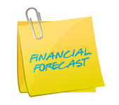 Financial forecast post message illustration — Stock Photo