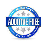 Additive free blue seal illustration design — Stock Photo