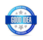 Good idea seal illustration design — Stock Photo
