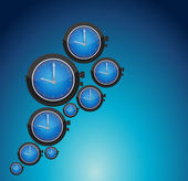 Watch set backgrounds. illustration design — Stock Photo