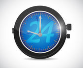 24 hours watch illustration design — Stok fotoğraf