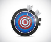 Watch and target. illustration design — Stockfoto