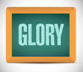 Glory message on a board illustration design — Stock Photo