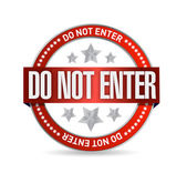 Do not enter seal illustration design — Stock Photo