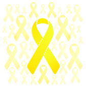 Support our troops yellow ribbons illustration — Stock Photo