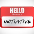Initiative name tag illustration design — Stock Photo #44953941