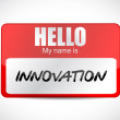 Innovation name tag illustration design — Stock Photo