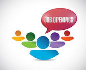 Job openings in a team. illustration design — Stock Photo