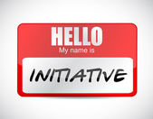 Initiative name tag illustration design — Stock Photo